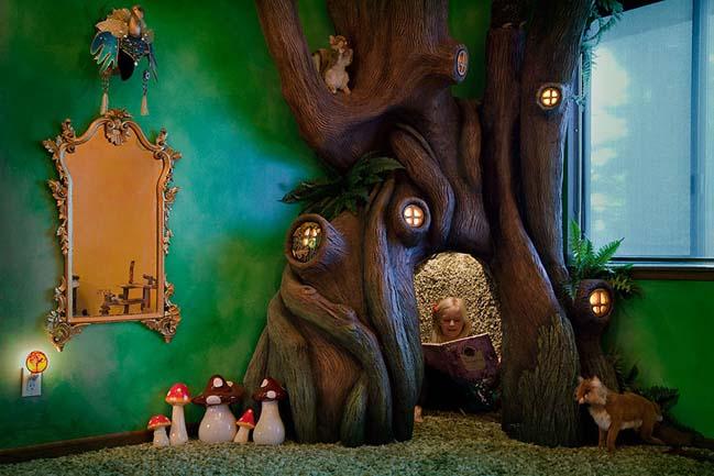 Biến phòng ngủ của bé gái thành xứ sở thần tiên