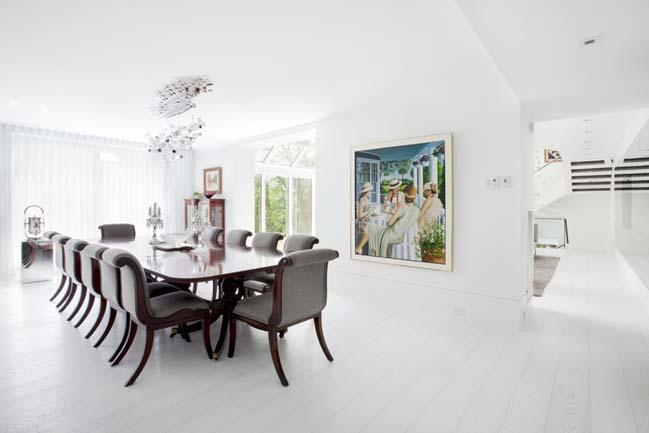 Biệt thự đẹp lộng lẫy với tông màu trắng
