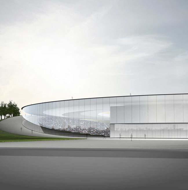 Hình ảnh kiến trúc của sân vận động cho Olympic 2020