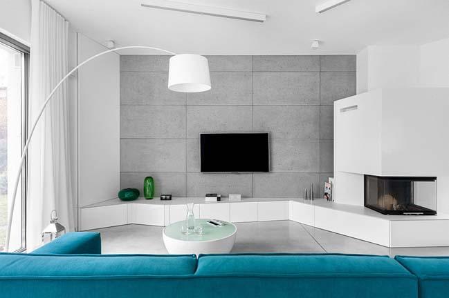 nha dep 2 tang 01 ngôi nhà đẹp 2 tầng mát mẻ và yên bình nhờ vào sự kết hợp hoàn hảo giữa các tông màu
