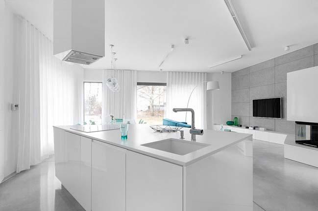 nha dep 2 tang 05 ngôi nhà đẹp 2 tầng mát mẻ và yên bình nhờ vào sự kết hợp hoàn hảo giữa các tông màu