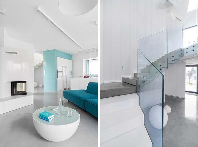 nha dep 2 tang 06 ngôi nhà đẹp 2 tầng mát mẻ và yên bình nhờ vào sự kết hợp hoàn hảo giữa các tông màu