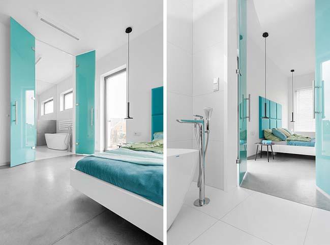 nha dep 2 tang 09 ngôi nhà đẹp 2 tầng mát mẻ và yên bình nhờ vào sự kết hợp hoàn hảo giữa các tông màu