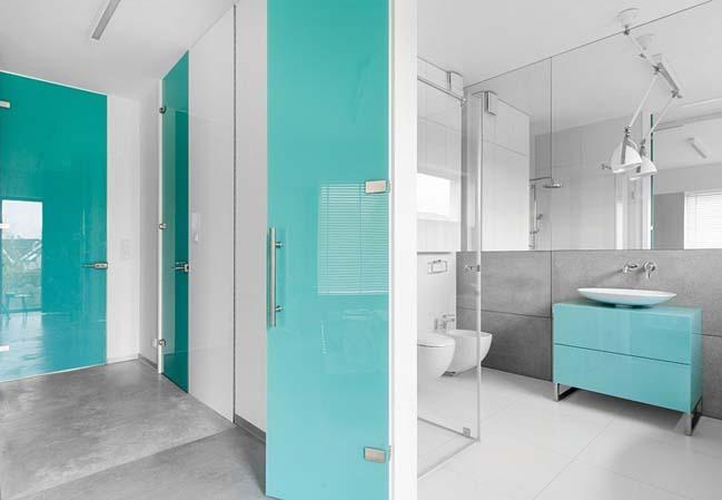 nha dep 2 tang 10 ngôi nhà đẹp 2 tầng mát mẻ và yên bình nhờ vào sự kết hợp hoàn hảo giữa các tông màu