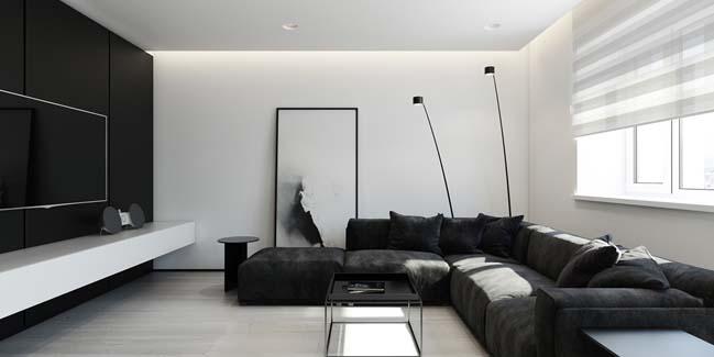 Mẫu căn hộ chung cư đẹp với phong cách tối giản
