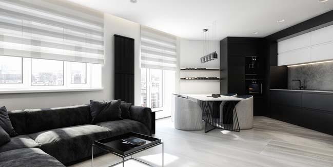 mau can ho chung cu dep 02 Chiêm ngắm mẫu căn hộ chung cư đẹp với phong cách tối giản