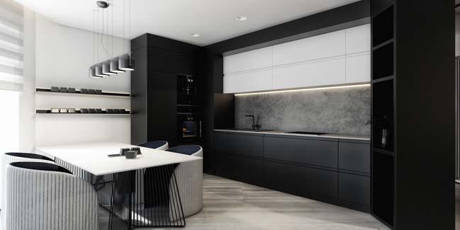 mau can ho chung cu dep 03 Chiêm ngắm mẫu căn hộ chung cư đẹp với phong cách tối giản