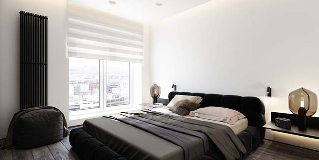 mau can ho chung cu dep 05 Chiêm ngắm mẫu căn hộ chung cư đẹp với phong cách tối giản