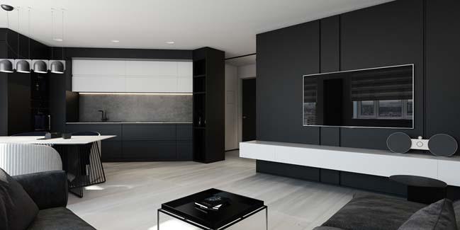 mau can ho chung cu dep Chiêm ngắm mẫu căn hộ chung cư đẹp với phong cách tối giản
