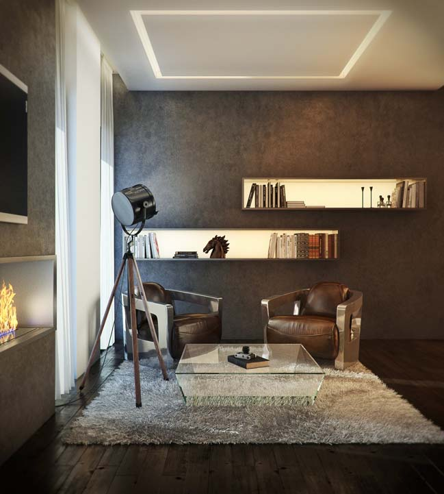 Căn hộ penthouse với nội thất sang trọng ấm cúng