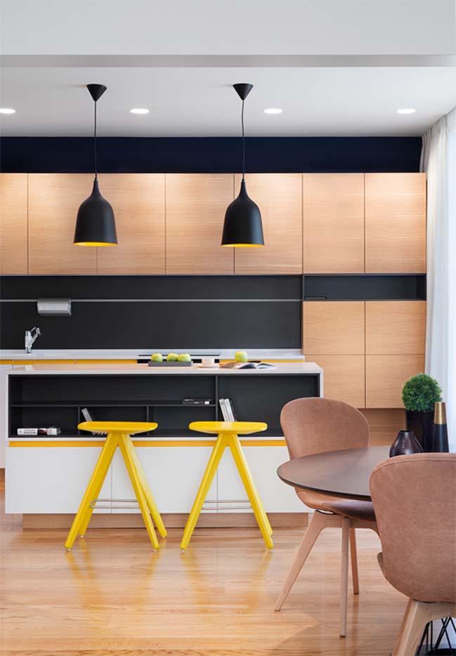 Trang trí căn hộ chung cư với hiệu ứng hình học