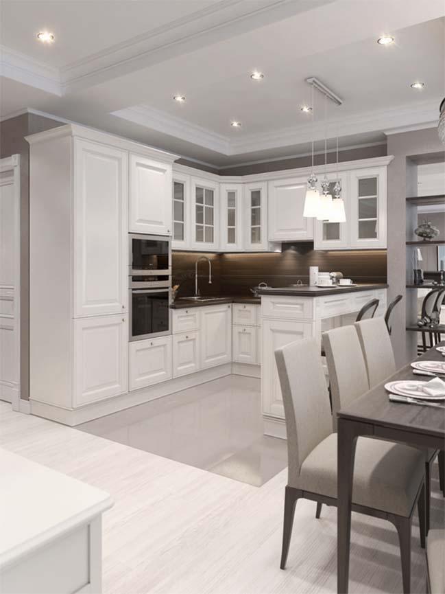 Mẫu nội thất căn hộ sang trọng với thiết kế cổ điển
