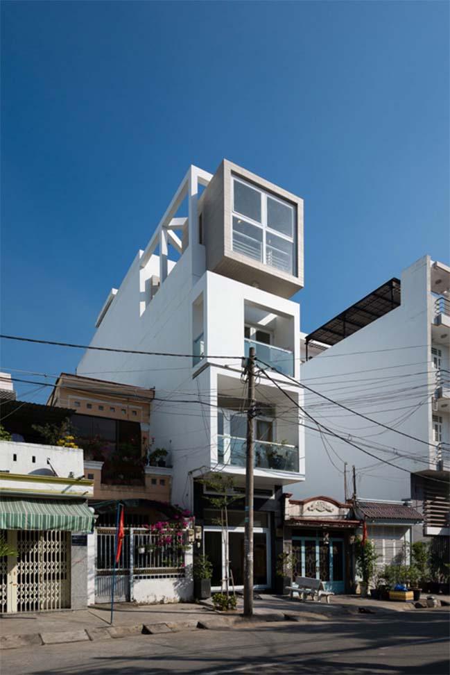 Mẫu thiết kế nhà phố đẹp 4 tầng hiện đại thoáng mát