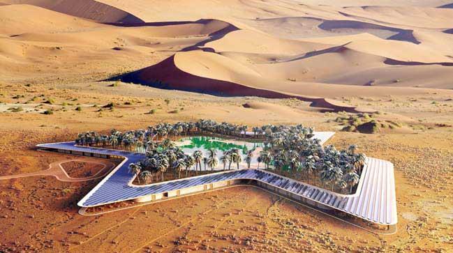Kiến trúc khách sạn xanh ngay giữa sa mạc