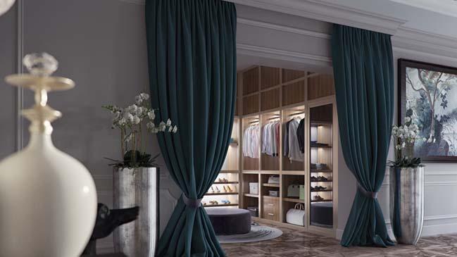 Mẫu phòng ngủ đẹp với thiết kế Art Deco sang trọng