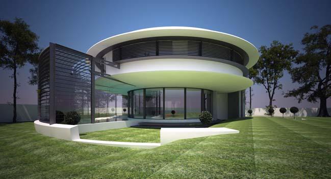 Biệt thự đẹp với kiến trúc hình tròn đẹp mắt