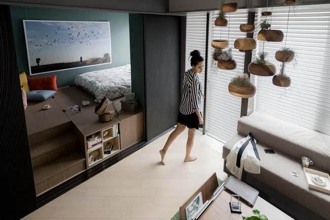 Ngắm căn hộ nhỏ đẹp 37m2 giá triệu đô