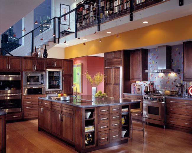 14 mẫu nhà bếp đẹp với nội thất gỗ cổ điển