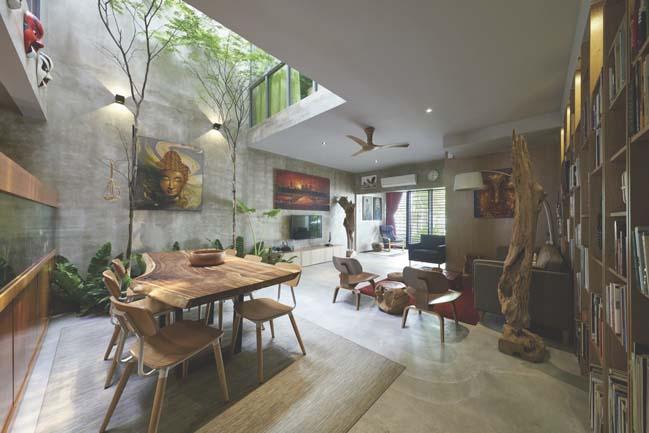 Mẫu nhà đẹp 2 tầng với thiết kế gần gũi thiên nhiên