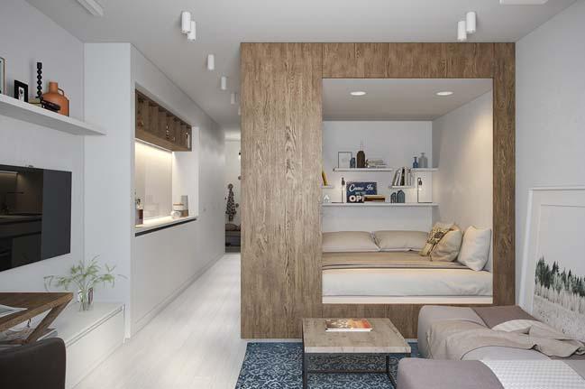 nha nho dep 29m2 02 Gợi ý thiết kế ấm cúng và sáng sủa cho nhà nhỏ đẹp 29m2