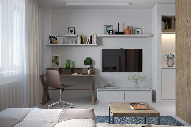 nha nho dep 29m2 04 Gợi ý thiết kế ấm cúng và sáng sủa cho nhà nhỏ đẹp 29m2