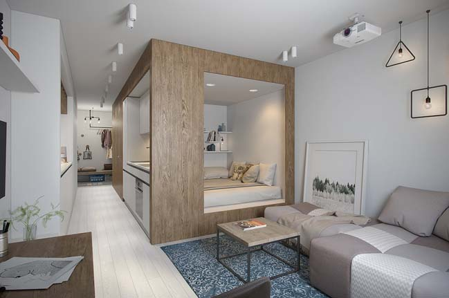 nha nho dep 29m2 Gợi ý thiết kế ấm cúng và sáng sủa cho nhà nhỏ đẹp 29m2