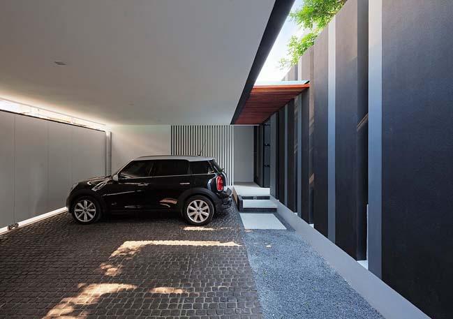 biet thu dep hinh chu l 01 Thiết kế biệt thự đẹp với kiến trúc hình chữ L hiện đại