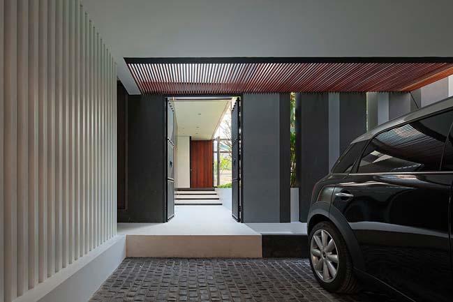 biet thu dep hinh chu l 02 Thiết kế biệt thự đẹp với kiến trúc hình chữ L hiện đại