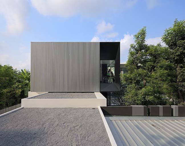 biet thu dep hinh chu l 03 Thiết kế biệt thự đẹp với kiến trúc hình chữ L hiện đại