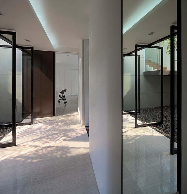 biet thu dep hinh chu l 05 Thiết kế biệt thự đẹp với kiến trúc hình chữ L hiện đại
