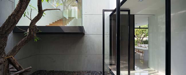 biet thu dep hinh chu l 06 Thiết kế biệt thự đẹp với kiến trúc hình chữ L hiện đại