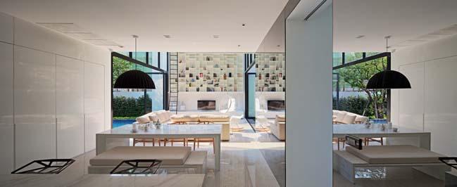 biet thu dep hinh chu l 08 Thiết kế biệt thự đẹp với kiến trúc hình chữ L hiện đại