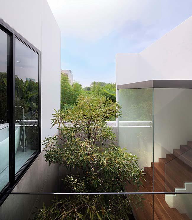biet thu dep hinh chu l 10 Thiết kế biệt thự đẹp với kiến trúc hình chữ L hiện đại