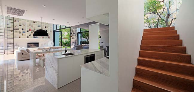 biet thu dep hinh chu l 11 Thiết kế biệt thự đẹp với kiến trúc hình chữ L hiện đại