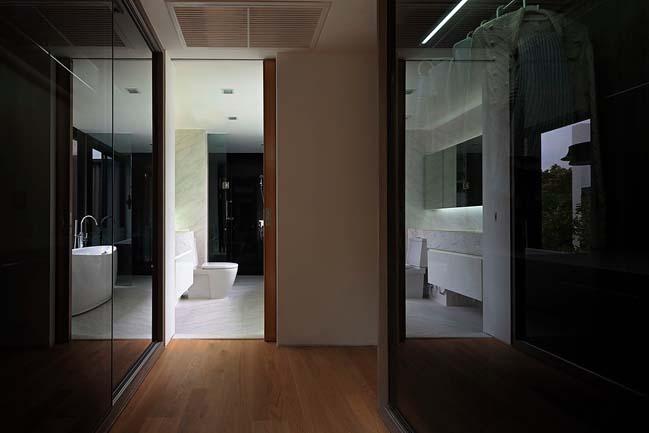biet thu dep hinh chu l 14 Thiết kế biệt thự đẹp với kiến trúc hình chữ L hiện đại