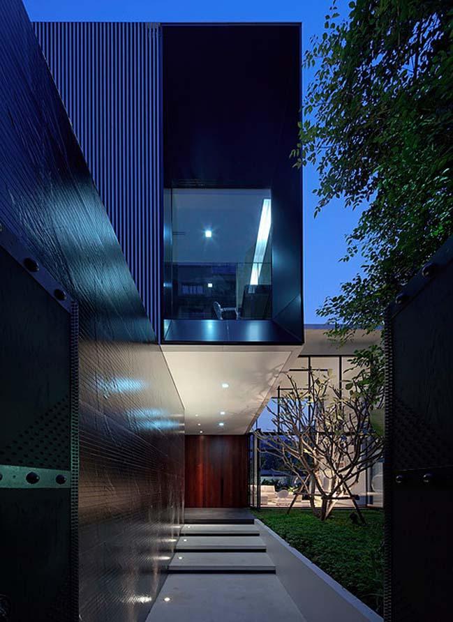 biet thu dep hinh chu l 16 Thiết kế biệt thự đẹp với kiến trúc hình chữ L hiện đại