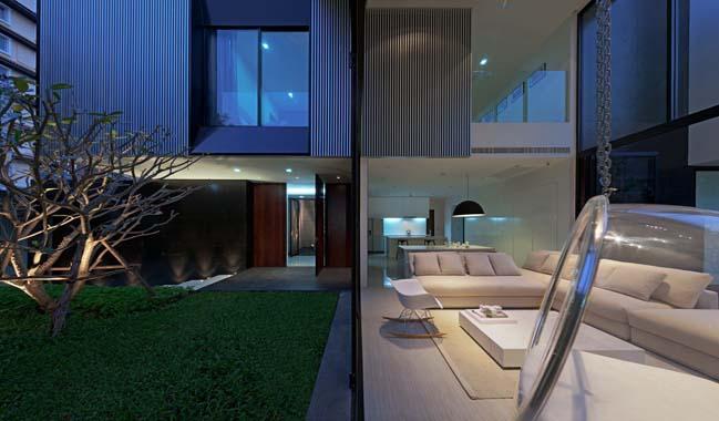 biet thu dep hinh chu l 19 Thiết kế biệt thự đẹp với kiến trúc hình chữ L hiện đại