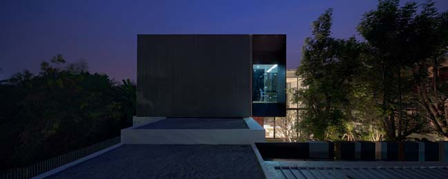 biet thu dep hinh chu l 20 Thiết kế biệt thự đẹp với kiến trúc hình chữ L hiện đại