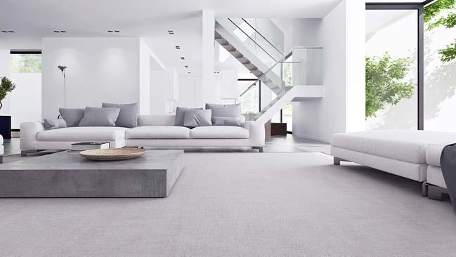 Mẫu nhà đẹp với nội thất trắng tối giản