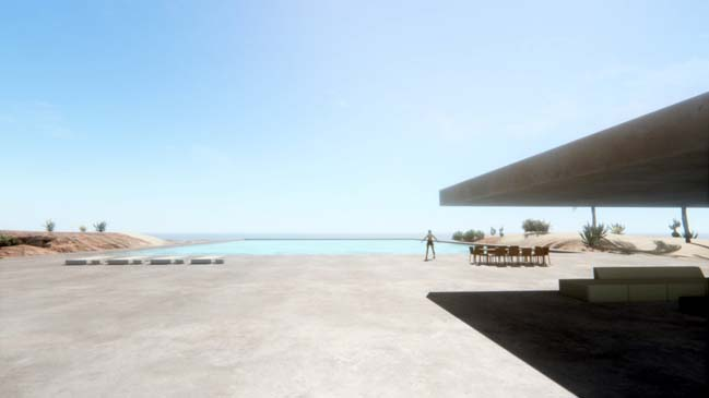 Mẫu thiết kế nhà đẹp với hồ bơi khổng lồ trên nóc