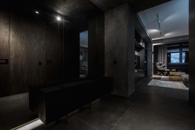 Mẫu nhà đẹp 90m2 với tông màu tối cá tính