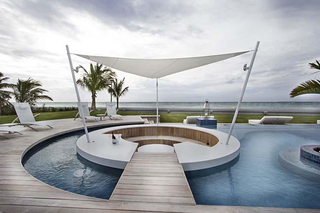 mau biet thu dep 2 tang 10 Cùng nhìn qua mẫu biệt thự đẹp 2 tầng sang trọng như resort