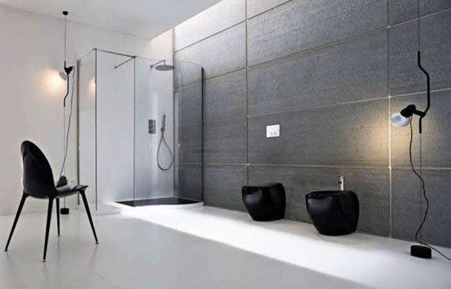 11 thiết kế phòng tắm đẹp với bê tông cá tính