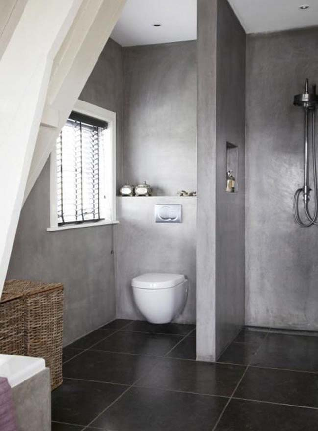 mau thiet ke phong tam dep 04 Gợi ý 11 thiết kế phòng tắm đẹp với bê tông cá tính