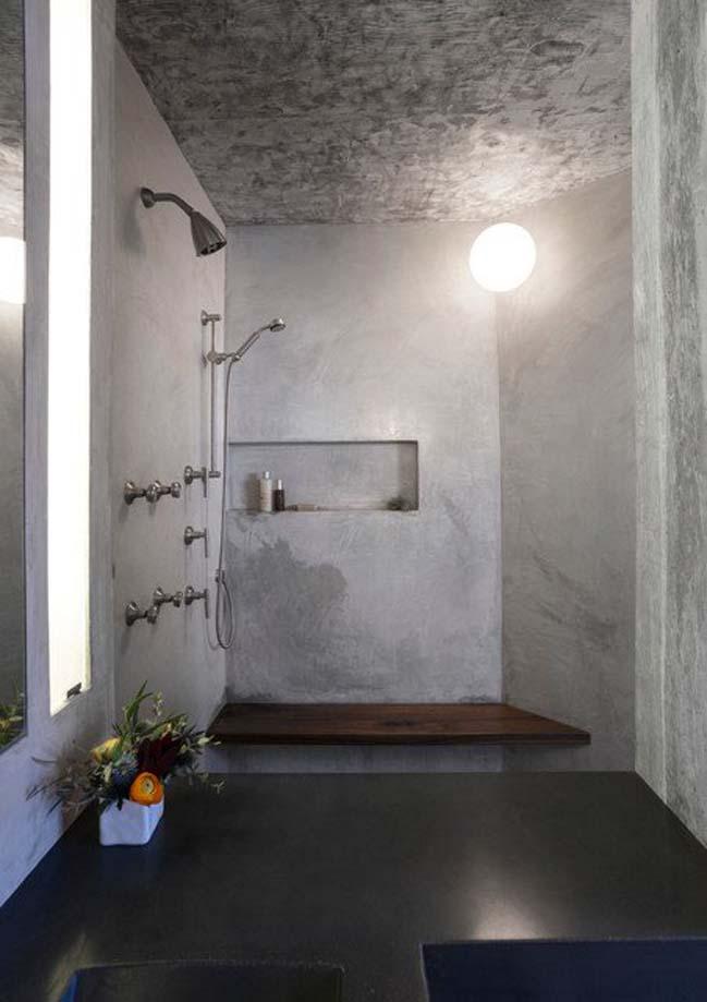 mau thiet ke phong tam dep 05 Gợi ý 11 thiết kế phòng tắm đẹp với bê tông cá tính