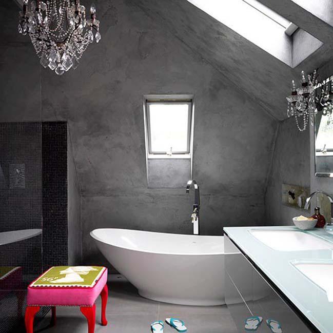 mau thiet ke phong tam dep 09 Gợi ý 11 thiết kế phòng tắm đẹp với bê tông cá tính