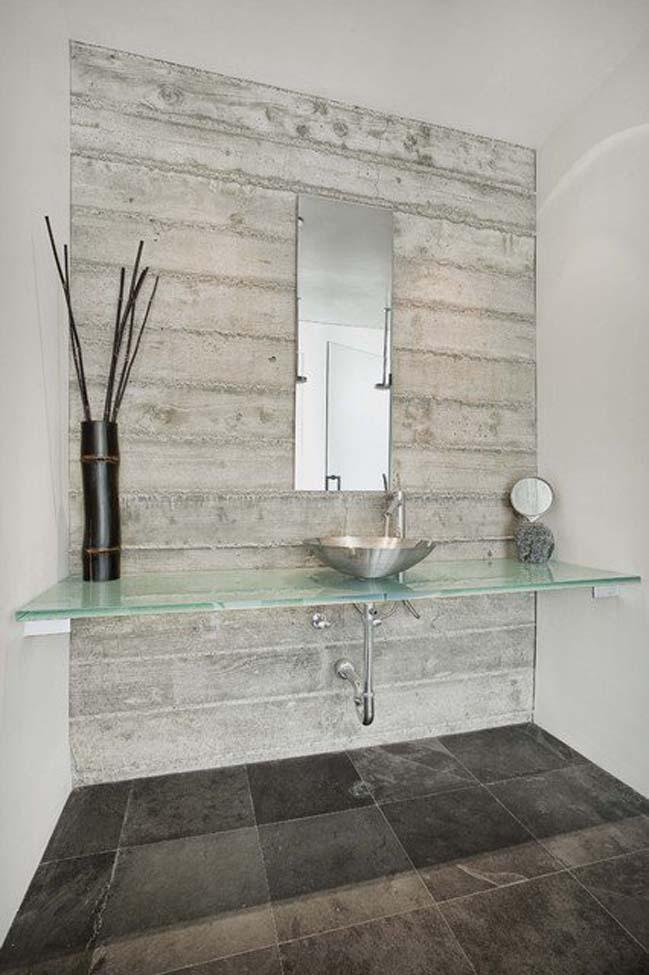 mau thiet ke phong tam dep 10 Gợi ý 11 thiết kế phòng tắm đẹp với bê tông cá tính