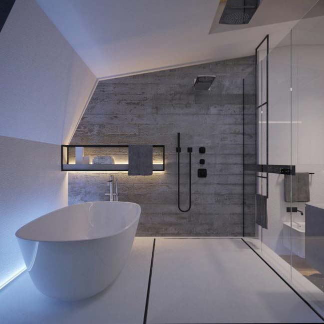 mau thiet ke phong tam dep 11 Gợi ý 11 thiết kế phòng tắm đẹp với bê tông cá tính