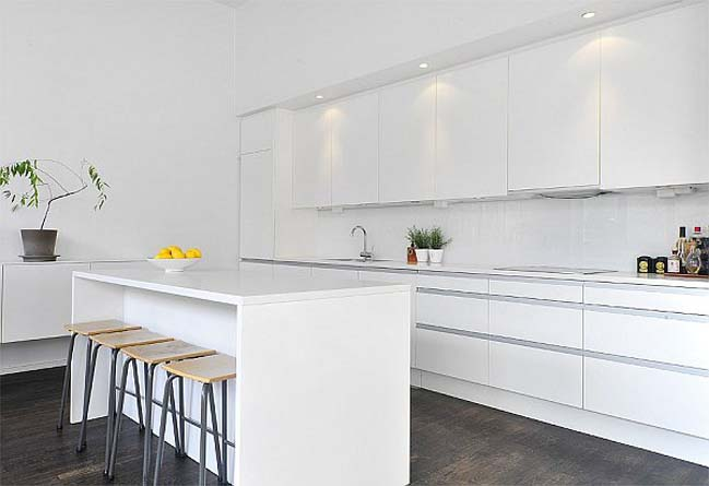15 mẫu nhà bếp đẹp với tông màu trắng