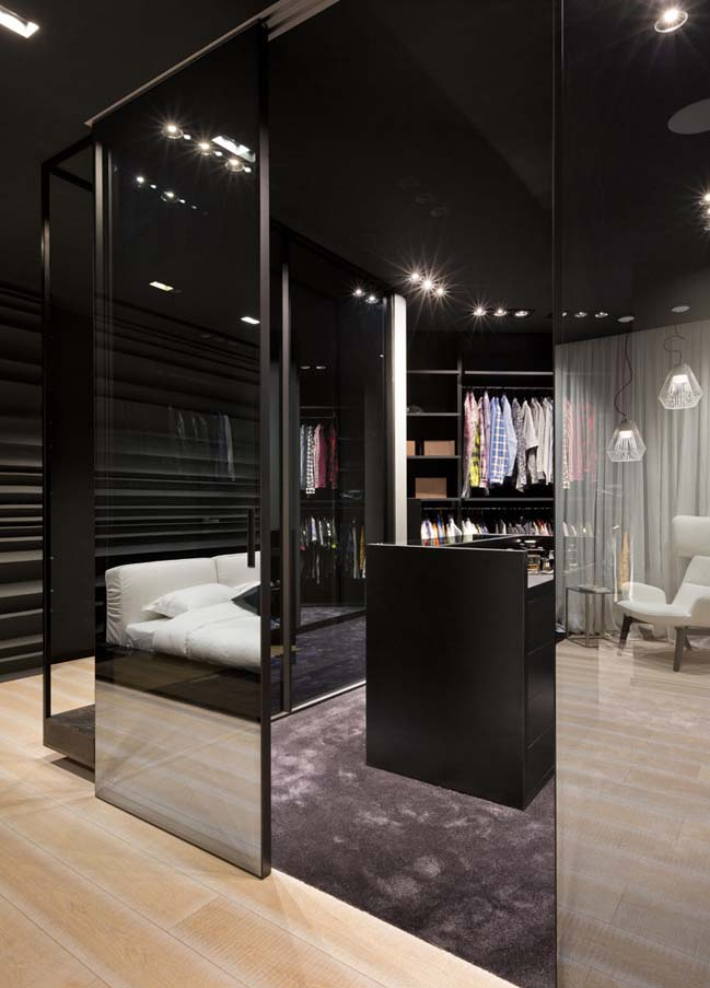 Ấn tượng căn hộ chung cư với nội thất trắng đen